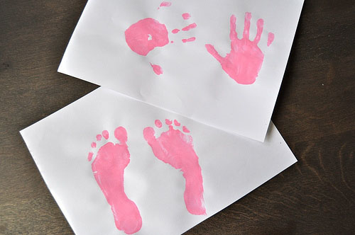 All About Me - Handprints and Footprints (Photo from Sorting Sprinkles)