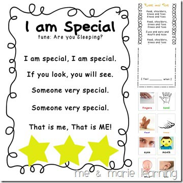 All About Me Pre-K Lesson Plan Pack