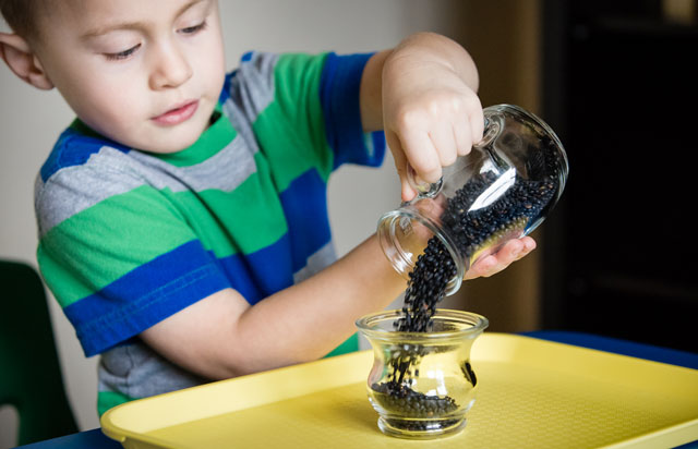 Dry Pouring - Pitcher to Wide Neck (Photo from KHT Montessori)