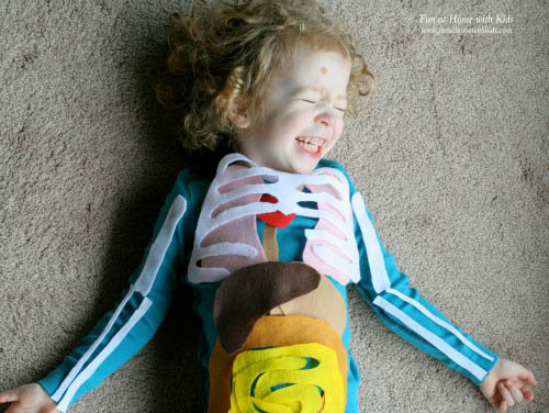 Life-Size Felt Model (Photo from Fun at Home with Kids)
