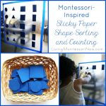 Montessori-Inspired Sticky Paper Shape Sorting and Counting