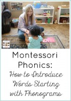 Montessori Phonics - How to Introduce Words Starting with Phonograms