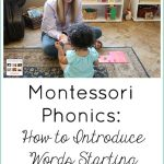 Montessori Monday – Phonics: How to Introduce Words Starting with Phonograms