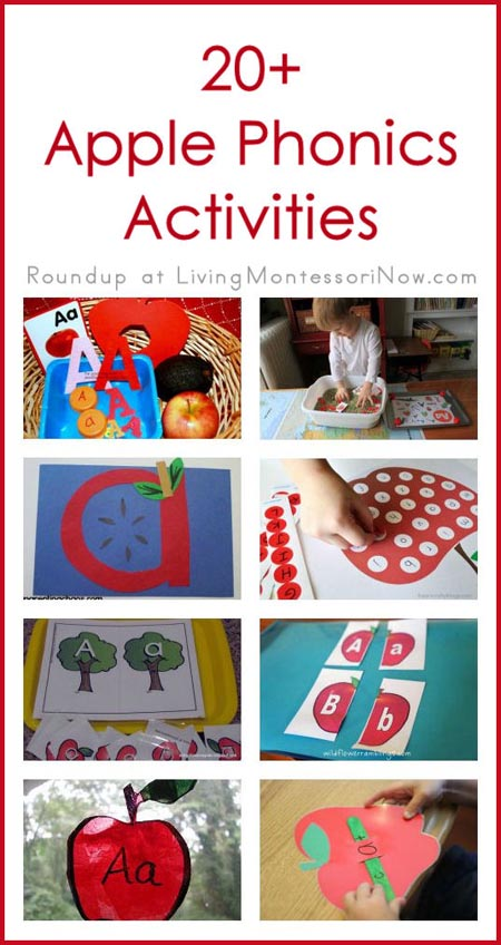 Montessori Monday – 20+ Apple Phonics Activities