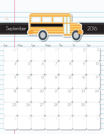 iMOM 2016 Calendar JAN