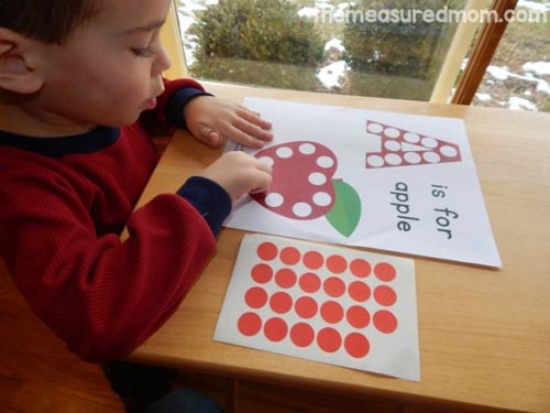 A Is for Apple (with free printable) from The Measured Mom