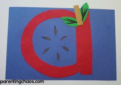 A is for Apple Craft (Photo from Parenting Chaos)