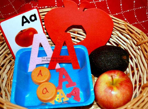 A is for Apple (and Avocado) Basket (Photo from The Good Long Road)