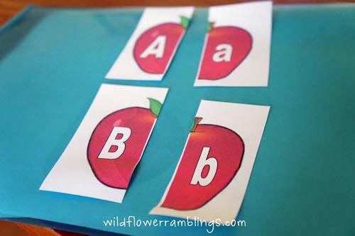 Apple Letters (Photo from Wildflower Ramblings)
