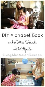 Montessori Monday – DIY Alphabet Book and Letter Sounds with Objects