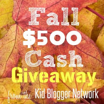 Fall $500 Cash Giveaway