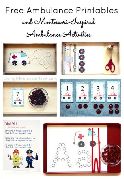 Free Ambulance Printables and Montessori-Inspired Ambulance Activities