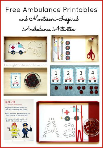 Free Ambulance Printables and Montessori-Inspired Ambulance Activities