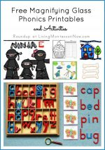 Montessori Monday – Free Magnifying Glass Phonics Printables and Activities