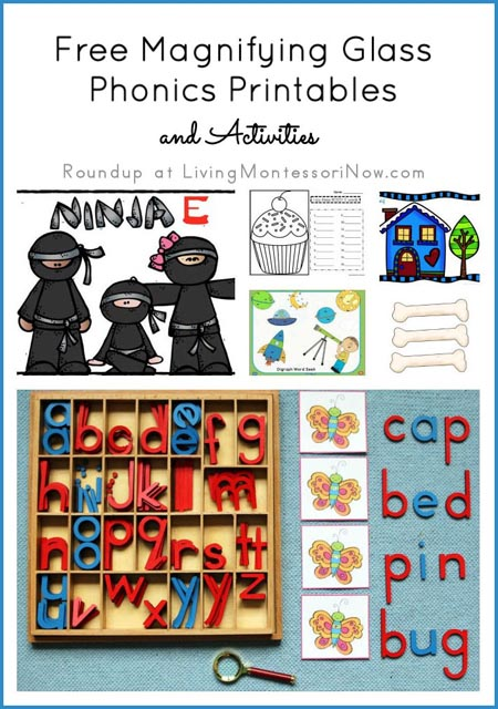 Free Magnifying Glass Phonics Printables and Activities