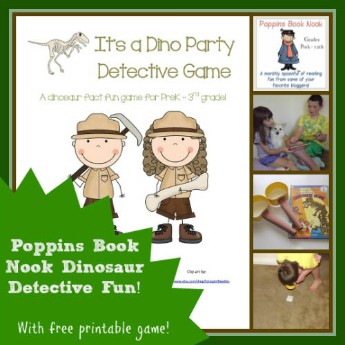 It's a Dino Party Detective Game from Enchanted Homeschooling Mom