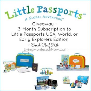 Little Passports 3-Month Subscription and Coral Reef Kit Giveaway