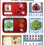 Montessori Monday – Montessori-Inspired Addition Activities Using Dots {Free Printables}