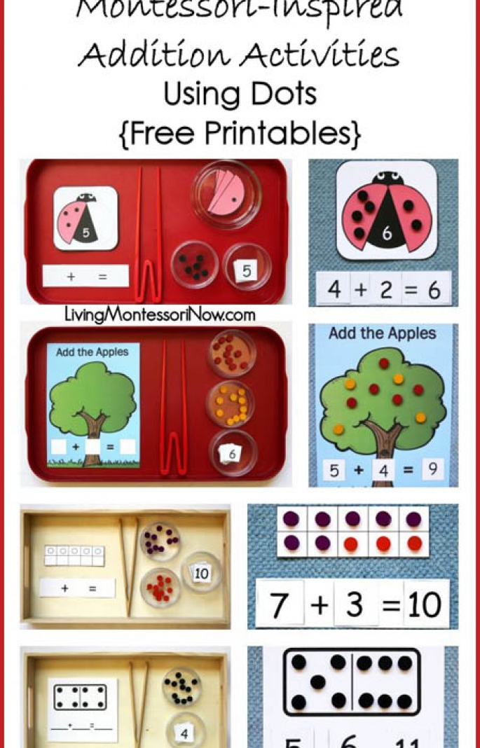 https://livingmontessorinow.com/montessori-monday-montessori-inspired-addition-activities-using-dots-free-printables/