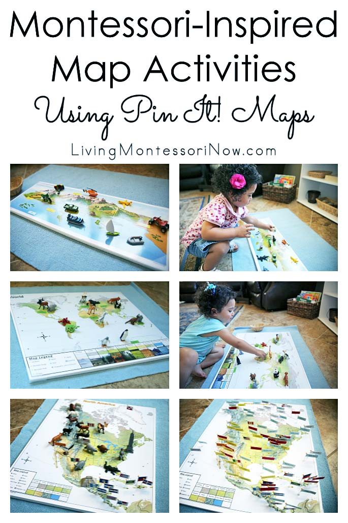 Montessori-Inspired Map Activities Using Pin It! Maps
