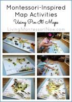 Montessori-Inspired Map Activities Using Pin It Maps