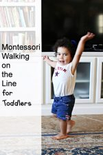 Montessori Walking on the Line for Toddlers