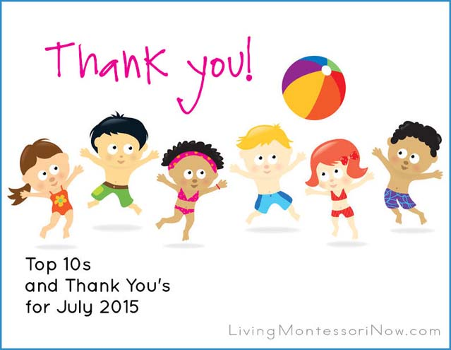 Top 10s and Thank You's for July 2015
