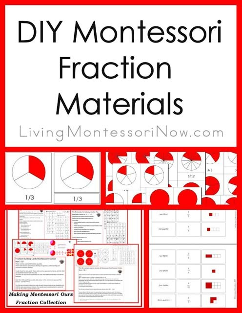 Montessori Monday – DIY Montessori Fraction Materials
