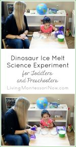Dinosaur Ice Melt Science Experiment for Toddlers and Preschoolers