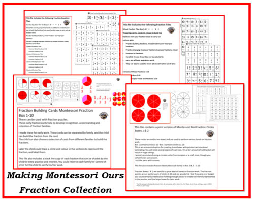 Fraction Collection from Making Montessori Ours