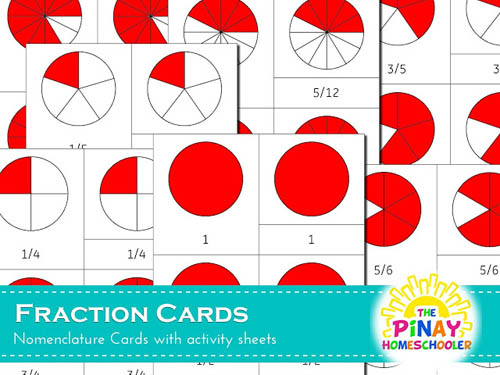 Fraction Nomenclature Cards from The Pinay Homeschooler