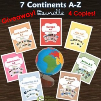 Giveaway - Trillium Montessori 7 Continents A-Z Bundle - 4 Copies