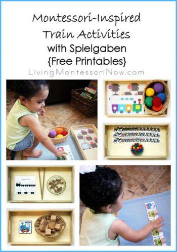 Montessori-Inspired Train Activities with Spielgaben {Free Printables}