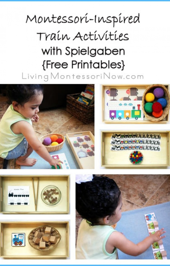 Montessori-Inspired Train Activities with Spielgaben {Free Printables}