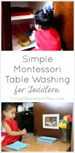 Simple Montessori Table Washing for Toddlers