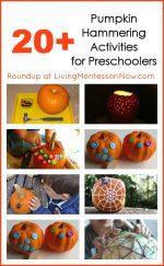 Montessori Monday – 20+ Pumpkin Hammering Activities for Preschoolers