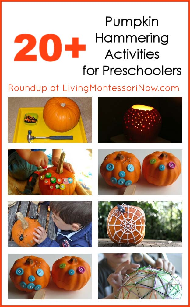 Montessori Monday – 20+ Pumpkin Hammering Activities for Preschoolers