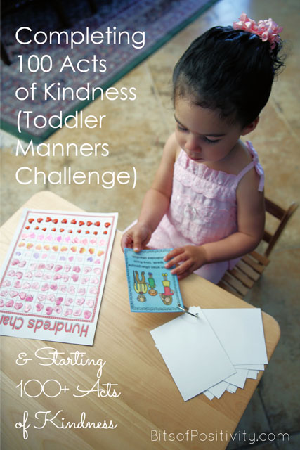 Completing 100 Acts of Kindness (Toddler Manners Challenge)