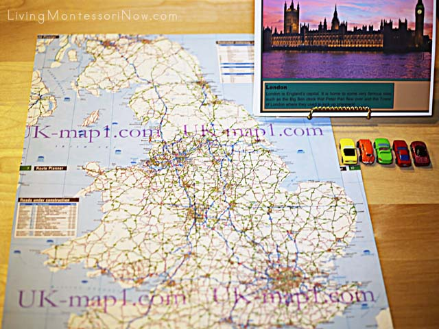 England Road-Map Activity