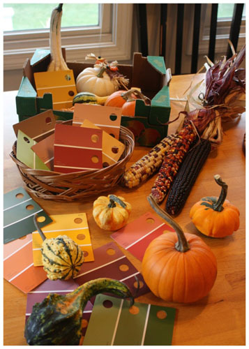 Exploring Fall Colors with Gourds (Photo from Little Bins for Little Hands)
