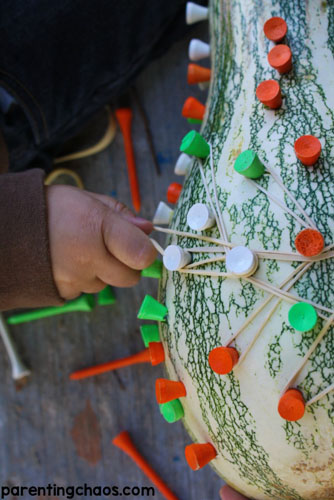 Geoboard Gourd (Photo from Parenting Chaos)