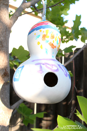 Gourd Birdhouse (Photo from Happiness is Homemade)