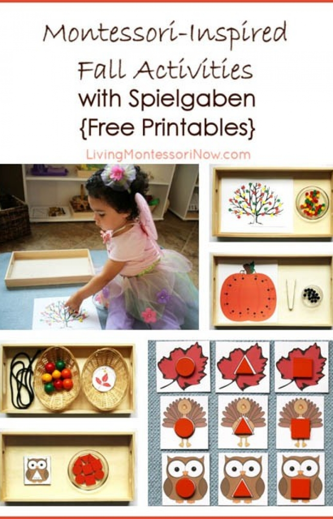Montessori-Inspired Fall Activities with Spielgaben {Free Printables}