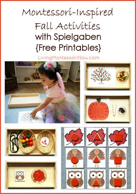 Montessori Monday – Montessori-Inspired Fall Activities with Spielgaben {Free Printables}