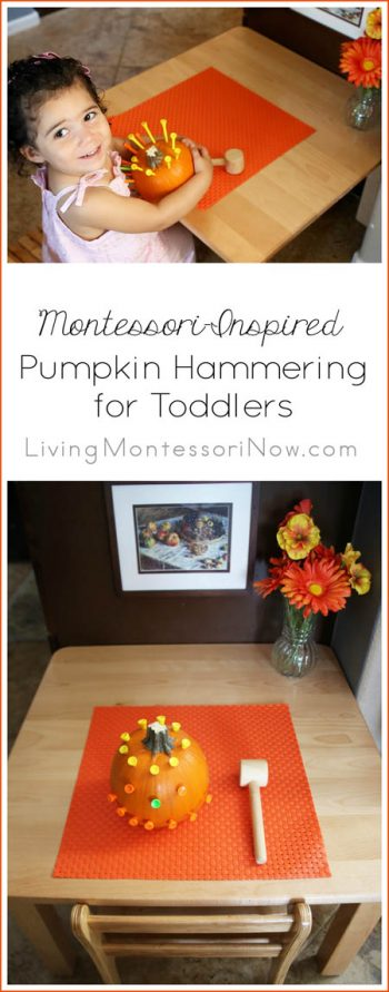 Montessori-Inspired Pumpkin Hammering for Toddlers