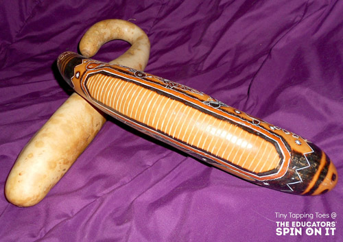Musical Instrument (Guiro) Made from a Gourd (Photo by Daria at The Educators' Spin On It)