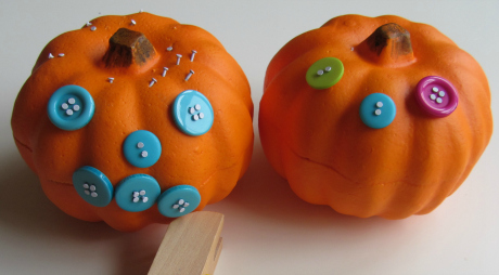 Pin and Pound Pumpkins (Photo from No Time for Flash Cards)