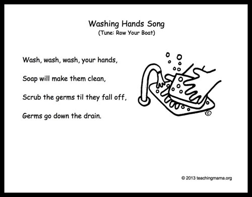 Washing Hands Song from Teaching Mama