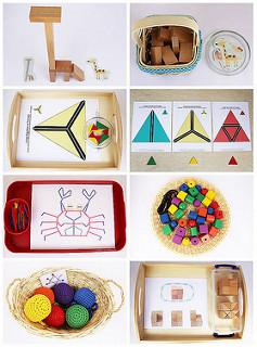 Ideas of Montessori-Inspired Spielgaben Activities