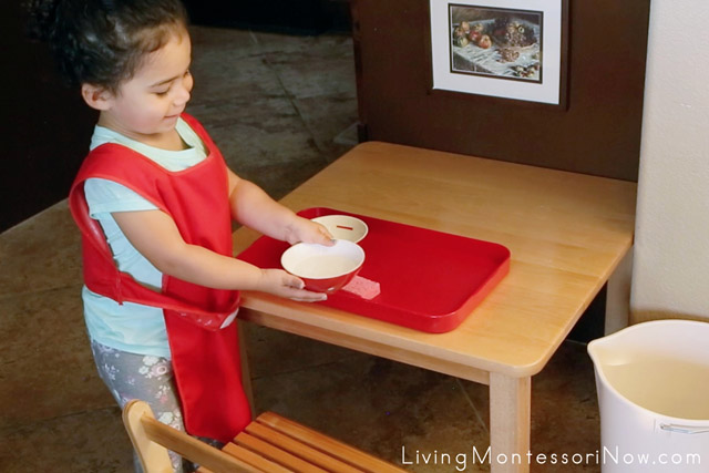 Cleaning up a Montessori Practical Life Activity Is Just Part of the Fun